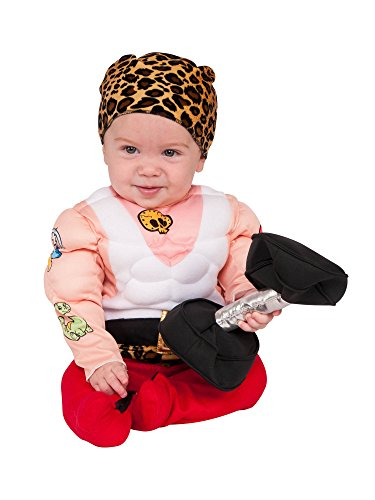 Baby Strongman Costume (Rubie's Baby Muscleman Costume, As Shown,)