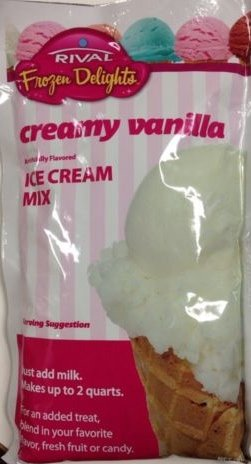 Rival Frozen Delights Vanilla Ice Cream Mix (Single Package)