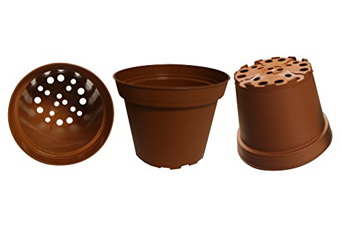 Plastic Pots for Plants, Cuttings & Seedlings, 4-Inch, 100-Pack. Color: Terracotta