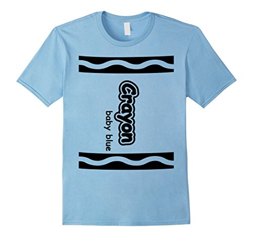 Cute Easy Group Costume Ideas (Mens Baby Blue Crayon Easy Halloween Costume Cute T-Shirt XL Baby Blue)