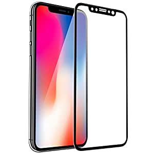 iPhone X Screen Protector, FayTun Tempered Glass Protector for iPhone X iPhone 10, HD Clear, 3D Curved Edge, 9H Hardness, Case Friendly, Full Cover Protection Screen Protector for Apple iPhone X 2017