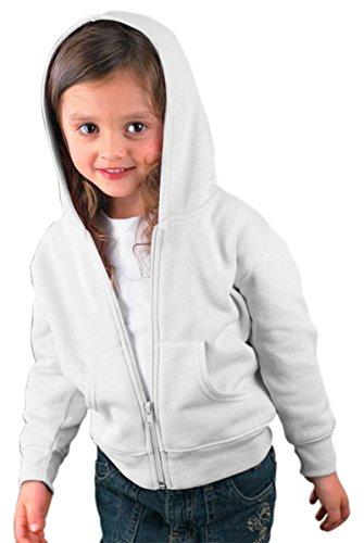 Rabbit Skins Little Boy's Zip Jersey-Lined Hooded Sweatshirt, White, (Rabbit Kids Sweatshirt)