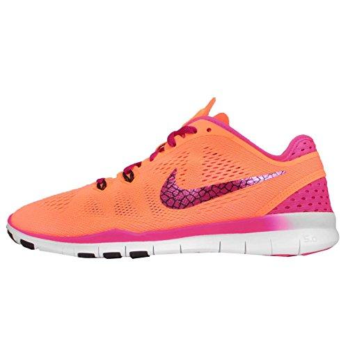 Nike Damen Free 5.0 Tr Fit 5 Sneaker, UK Orange (Hyper Crimson/Volt-obsidian)