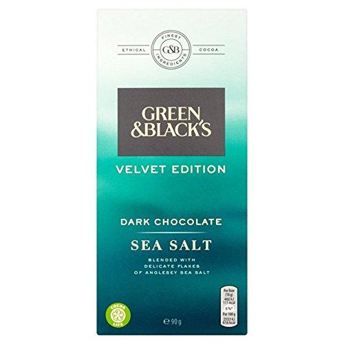 Green & Black's Velvet Dark Sea Salt Chocolate 90g - Sea Velvet