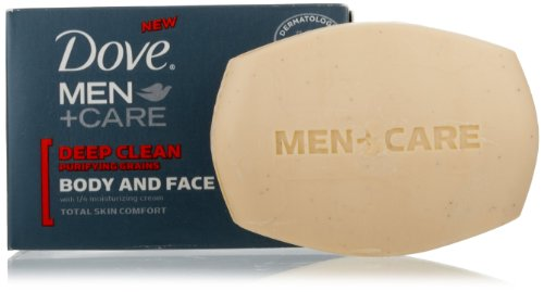 Price comparison product image Dove Men + Care Body and Face Bar, Deep Clean, 4 Bar (Pack of 2)