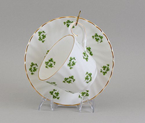 SHAMROCK CUP AND SAUCER - Fine English Bone CHina (China Fine Bone Saucer English)