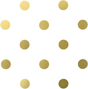 BERRYZILLA 2 inch Gold DOTS (96 Decals) Metallic Gold Circle Decal Vinyl Removable Round Polka Dot Sticker Wall Art Baby Nursery Kids Room