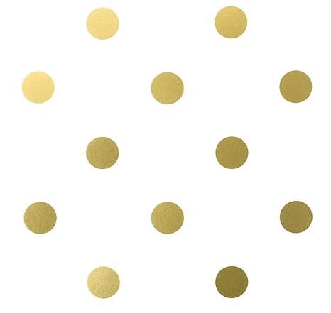 Amazon Com Berryzilla 3 Inch Gold Dots 48 Decals Metallic