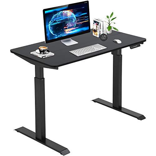 Standing-Desk-Converter-Electric-Height-Adjustable-Computer-Desk-472-Home-Office-Gaming-Desk-Writing-Computer-Workstation-PC-Simple-Sit-Stand-Large-Working-Area-Modern-Student-Study-DeskBlack
