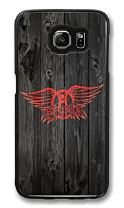Samsung Galaxy S6 Edge Case, S6 Edge Case - Hipster Design Asw Aerosmith Logo [Scratch-Resistant] [Perfect Fit] Protective Case Hard Back Bumper Case Cover for Samsung Galaxy S6