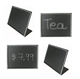 Creative Co-op Metal Blackboard with Easel, 4 L X 3 H Inches