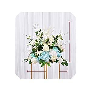 Artificial Flower Pompom 40 cm Table Centerpiece Ball Decor Wedding Backdrop Silk Flower Ball Road Lead Floral Bouquet Wall Rose,Tiffany Blue