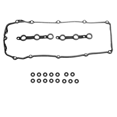 BMW Engine Valve Cover Gasket Set + 15 Grommet Seals Bolt Seals Automotive Replacement Engine for 2002-2006 BMW M54 E46 E53 E60 E83 E85 X 3 (Bmw 325i Valve Cover)