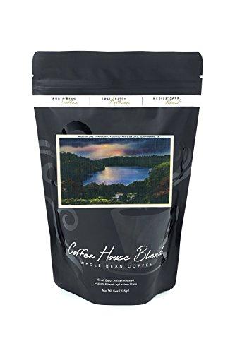 Virginia - Moonlit View of Mountain Lake near Pembroke (8oz Whole Bean Small Batch Artisan Coffee - Bold & Strong Medium Dark Roast w/ - Lake Pembroke