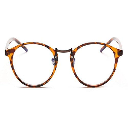 Carey Gafas Marco Mujer Anti Eyewear Transparente Lente radiación UV Moda Claro Computadora azul Redondas Hombre luz Anti Xinvision qtfTgE