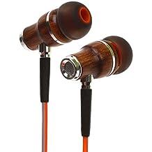Symphonized NRG 3.0 Premium Wood In-ear Noise-isolating Headphones|Earbuds|Earphones with Mic & Volume Control (Fiery Orange & Hazy Gray )