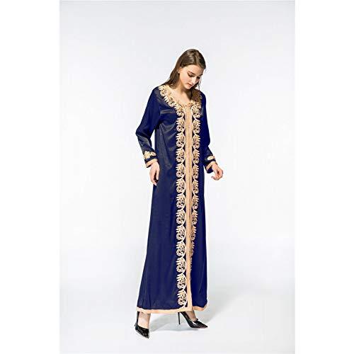 Vestido Del Moda Color Sola De La Las Cxlyq Sólido Manera Mujeres Capa Solos Vestidos Blue Una Cuentas Impermeables Cordón ETn8Rwq