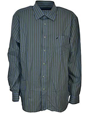 Men's Cotton Button Down Wrinkle Resistant Slim Fit Shirt