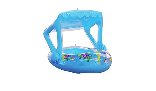 winnerruby Bote Flotador para bebés con toldo Flotador Inflable de ...