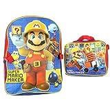 Backpack - Nintendo - Super Mario Maker w/Lunch Bag New 413087