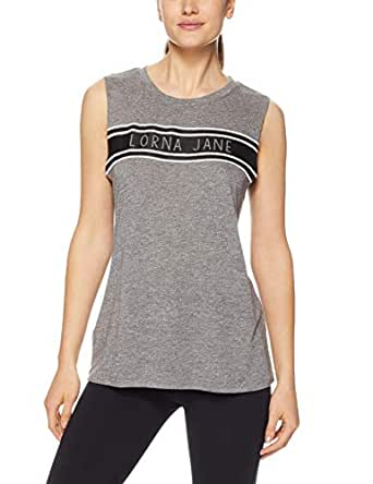 Lorna Jane Women's Free Throw Tank, Grey Marl, X-Small