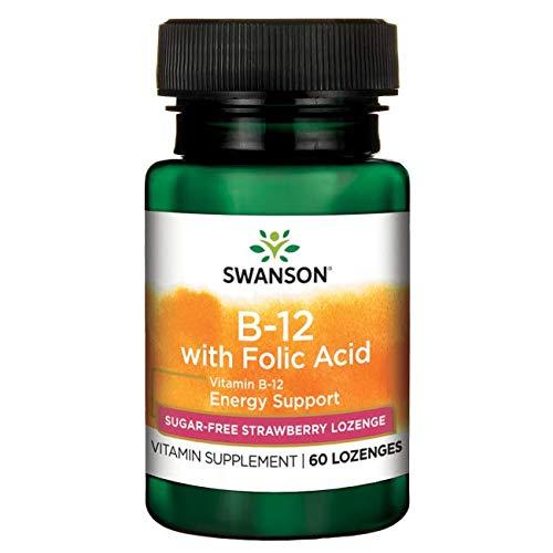 Swanson Vitamin B-12 with Folic Acid 60 Tabs