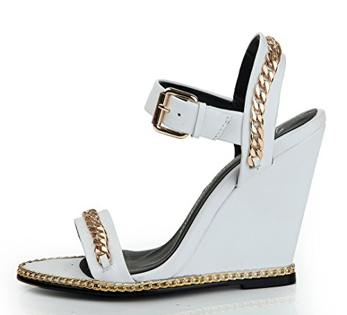 con blanco Zapatos tacón TDA mujer 8xq5nT