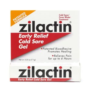 Zilactin Cold Sore Gel-0.25,oz. (Quantity of - Sore Cold Zilactin