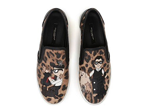 Women's E Leather Dolce On Slip Sneakers CK0028AE3798L290 Gabbana Multicolor qFxwEAUT