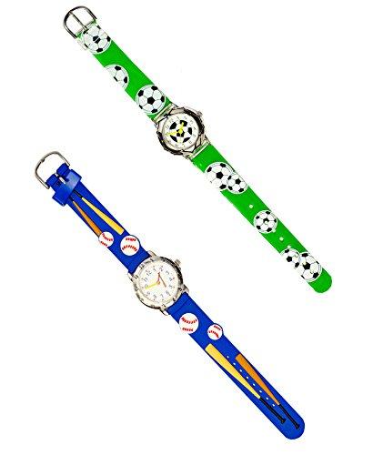 WeGlow International WGI All Sports All The Time 2-Watch No 1 Fun Set, Blue/Green