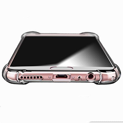 Meizu M6 Note Hülle, MSVII® Air-Cushion Design Durchsichtig Weich TPU Hülle Schutzhülle Case Und Displayschutzfolie für Meizu M6 Note JY70018