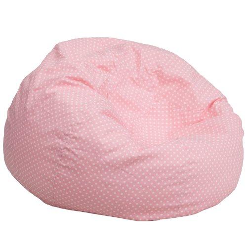 Emma + Oliver Oversized Light Pink Dot Bean Bag Chair by Emma + Oliver