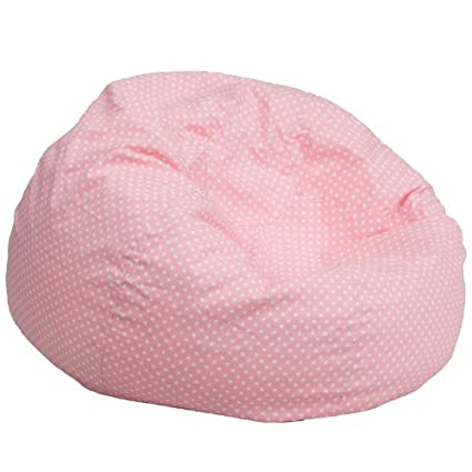 Amazoncom Flash Furniture Oversized Light Pink Dot Bean Bag Chair