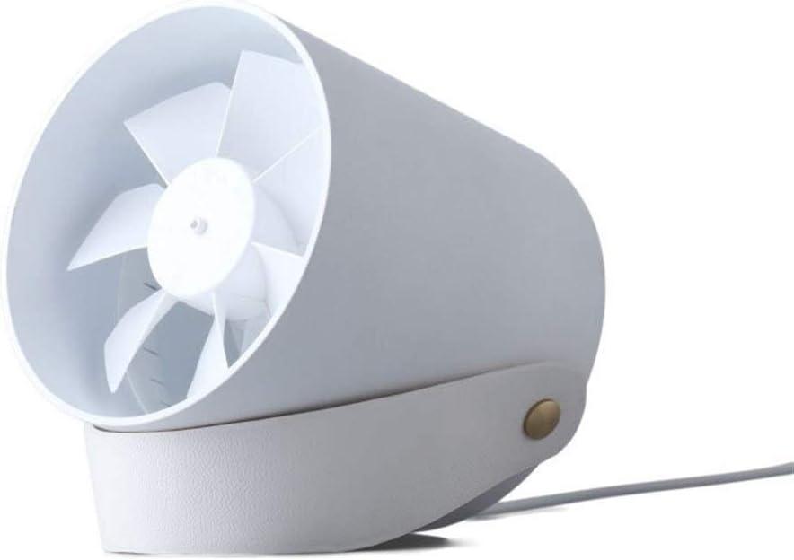 Color : White Air Cooler Silent Table Fan Soft Wind Touch Smart USB Double Leaf Fan Mini Portable Outdoor Small Fan Office Desktop Fan