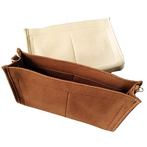 - Purse Organizer Insert Fit LV Toiletry Pouch 26 Handbag Shaper Premium Felt with Buckles, Brown (LV Toiletry Pouch 26, Brown)