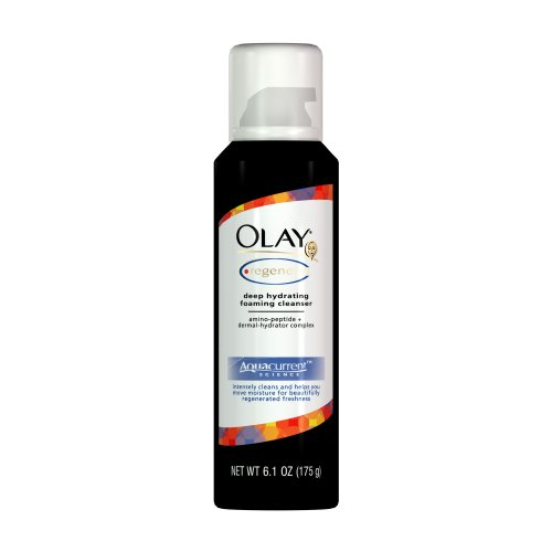 Olay Regenerist Deep Hydrating Mousse Cleanser, 6.1 Ounce (Pack of 3)