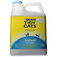Tidy Cats Scoop Cat Box Filler Acción instantánea, control inmediato de olores, formulado para gatos múltiples, 20 lb
