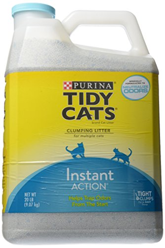 Tidy Cats Scoop Cat Box Filler Instant Action, Immediate Odor Control, Formulated for Multiple Cats, 20 lb