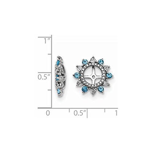 ICE CARATS 925 Sterling Silver Swiss Blue Topaz Earrings Jacket Birthstone December Fine Jewelry Ideal Gifts For Women Gift Set From Heart by ICE CARATS (Image #3)