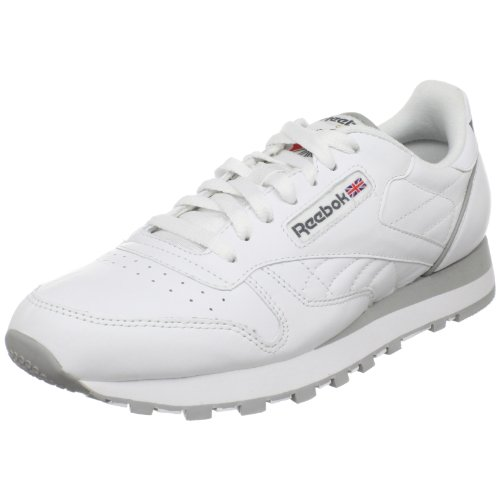 Reebok Men's Classic Leather Shoe, white, 11 M US (Classic Mens Leather Walking Shoes)