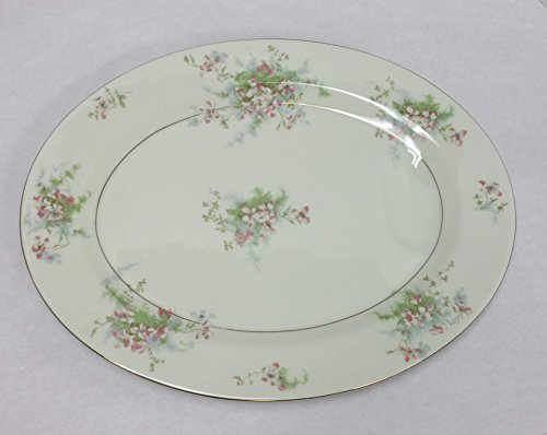 Theodore Haviland New York Oval Serving Platter. Apple Blossom Pattern