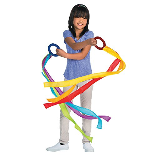 Fun Express - Fly in The Wind Wrist Rings- 6 pc - Toys - Active Play - Recess & PE Play - 6 Pieces