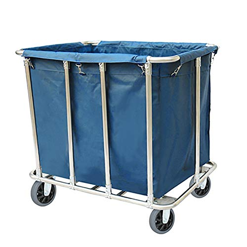 Heavy-Duty Housekeeping Rolling Laundry Sorter Cart with Removable Bags, Utility Service Trolley Linen Car (Color : Without Drawer)