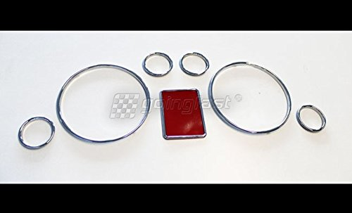 Euro Speedometer (Euro Chrome Speedometer Gauge Dash Dial Rings Bezel Trim For Audi A4 S4 B5 A6 RS6 C5)