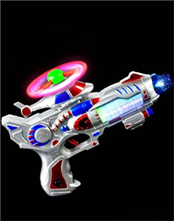 Futuristic Sci-Fi Helicopter Laser Gun with Light Sound