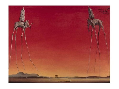 Salvador Elephants Surreal Poster inches