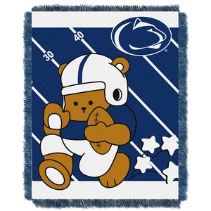 Nittany Lions Woven Jacquard - The Northwest Company Officially Licensed NCAA Penn State Nittany Lions Fullback Woven Jacquard Baby Throw Blanket, 36
