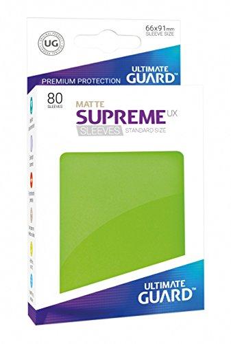 Ultimate Guard Supreme UX Card Sleeves (80 Piece), Matte Light Green, Standard Size (Eclipse Flush)