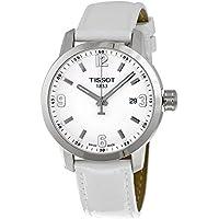 Tissot Womens PRC 200 White Leather Strap Sporty Watch