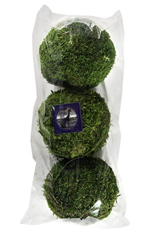 SuperMoss (25541) Moss Balls, Fresh Green, 4'' (3 pack) by Super Moss